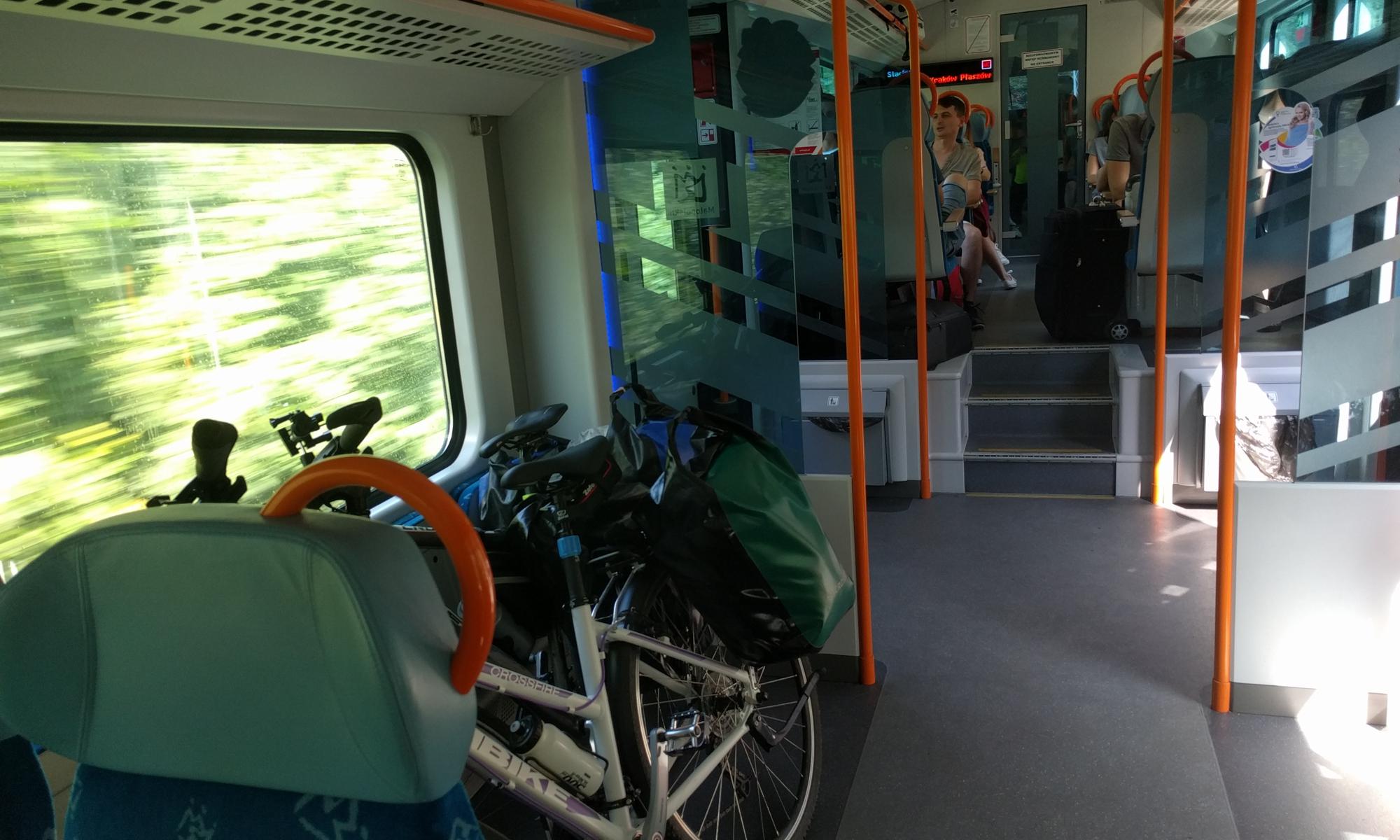 W pociągu Kolei Małopolskich