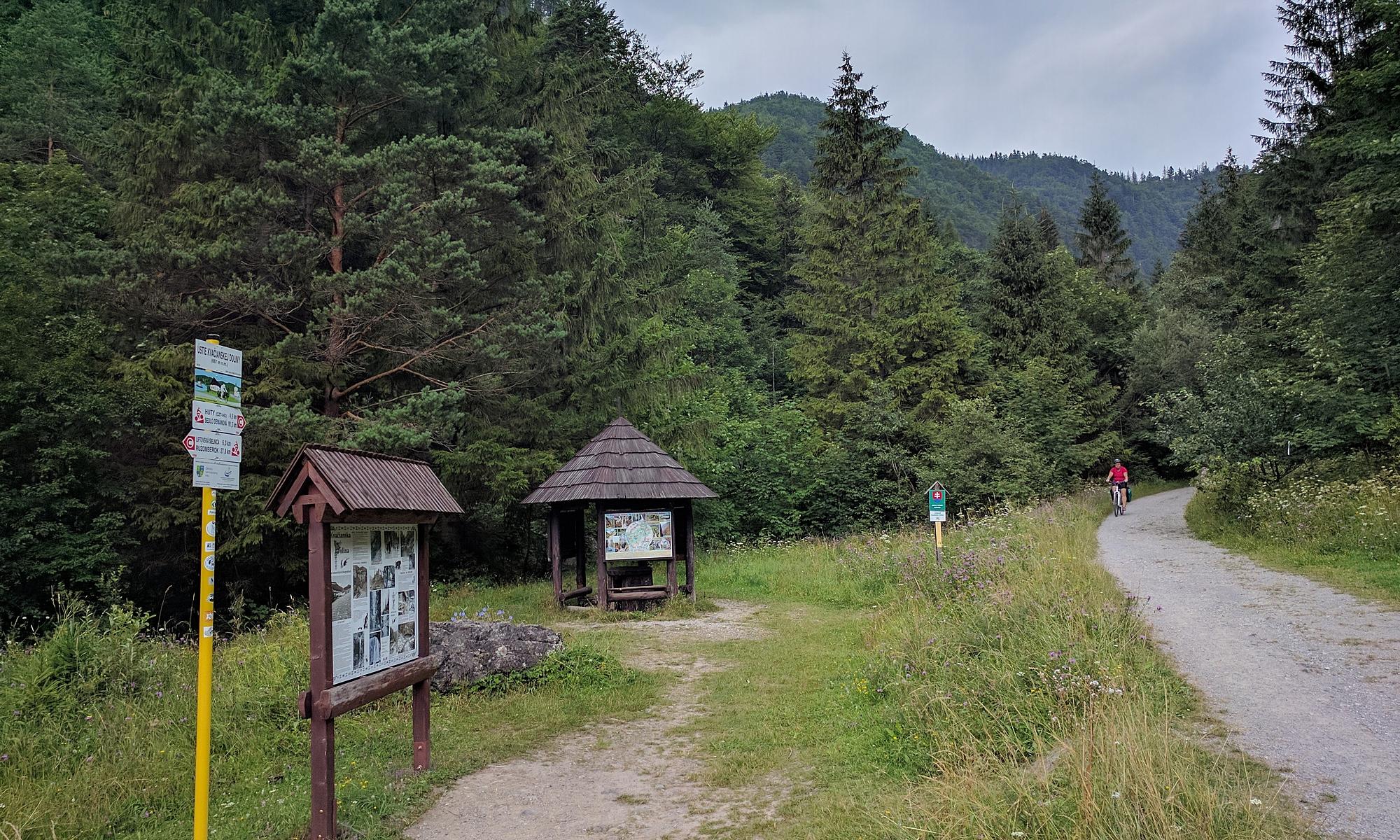 Wyjazd z doliny od strony Kwaczan